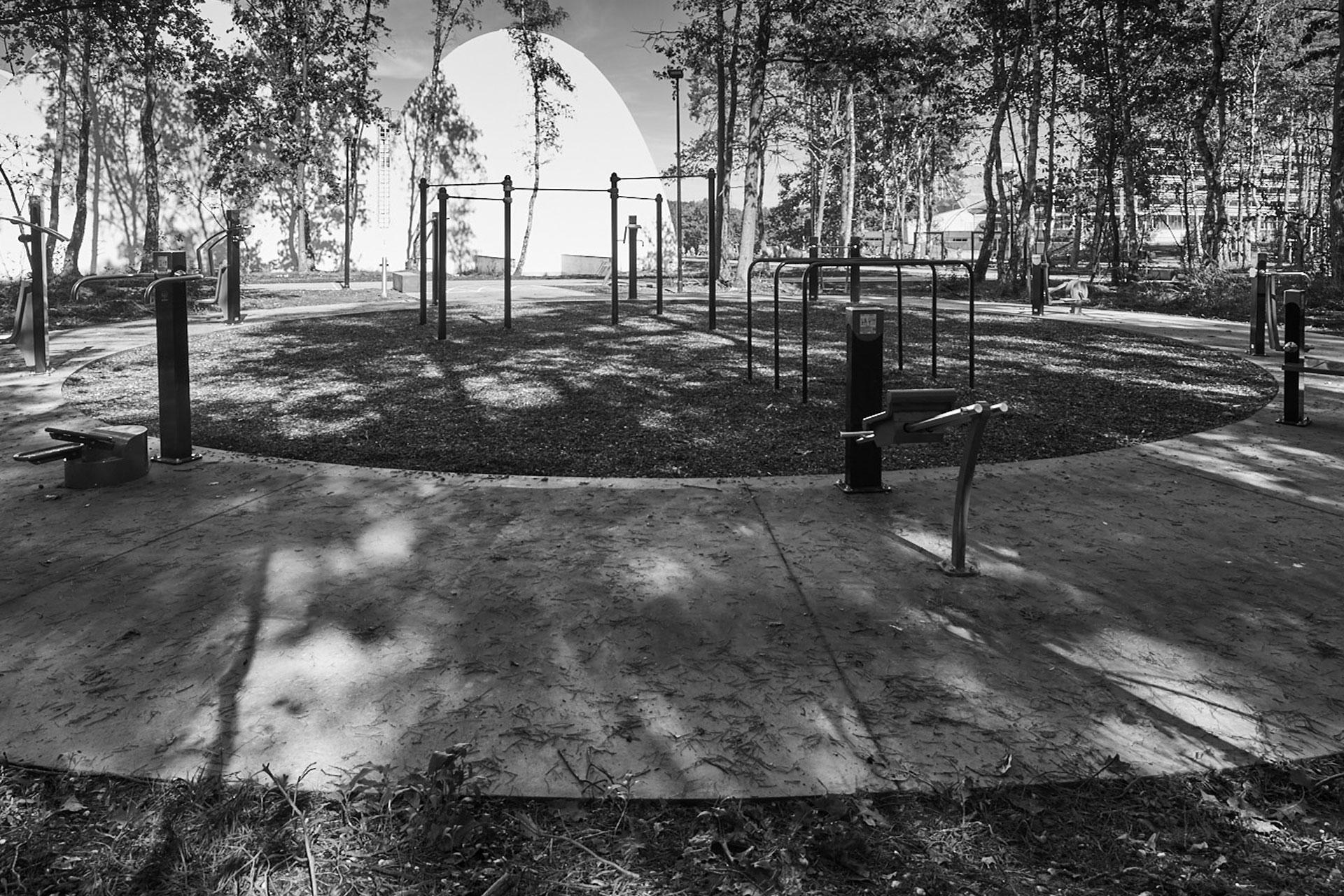 sport in genk park gestort en gepolierd